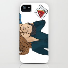 Margo and Eliot 506 with Pizza iPhone Case