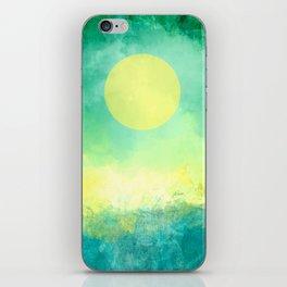 Yellow Moon, Emerald Sky, Blue Water iPhone Skin