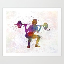 Body buiding woman isolated Art Print