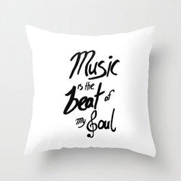 Listen to the Music Throw Pillow