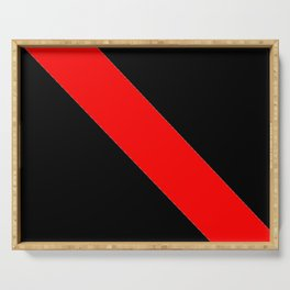 Oblique red and black Serving Tray