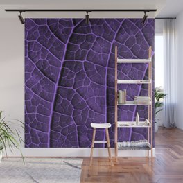 LEAF STRUCTURE ULTRAVIOLET no2 Wall Mural