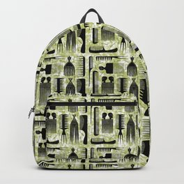 Comb Through green Pattern Backpack