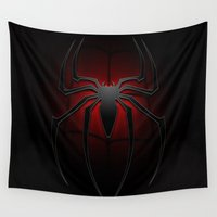 spider man Wall Tapestries featuring Spider man by DavinciArt