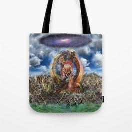 3 Headed Dragon Tote Bag