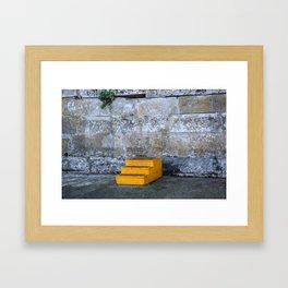 Yellow Steps Framed Art Print