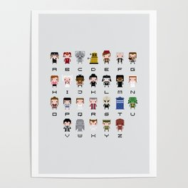 Doctor Who Alphabet Poster