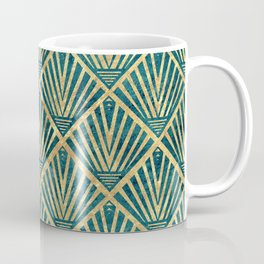 Stylish geometric diamond palm art deco inspired Coffee Mug
