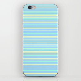 Sky Blue & Light Yellow Candy Lines iPhone Skin