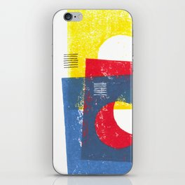 Basic in red, yellow and blue iPhone Skin