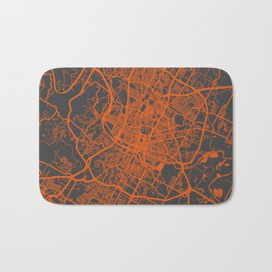 Austin map Bath Mat