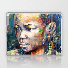 She - portrait of a beautiful woman Laptop & iPad Skin