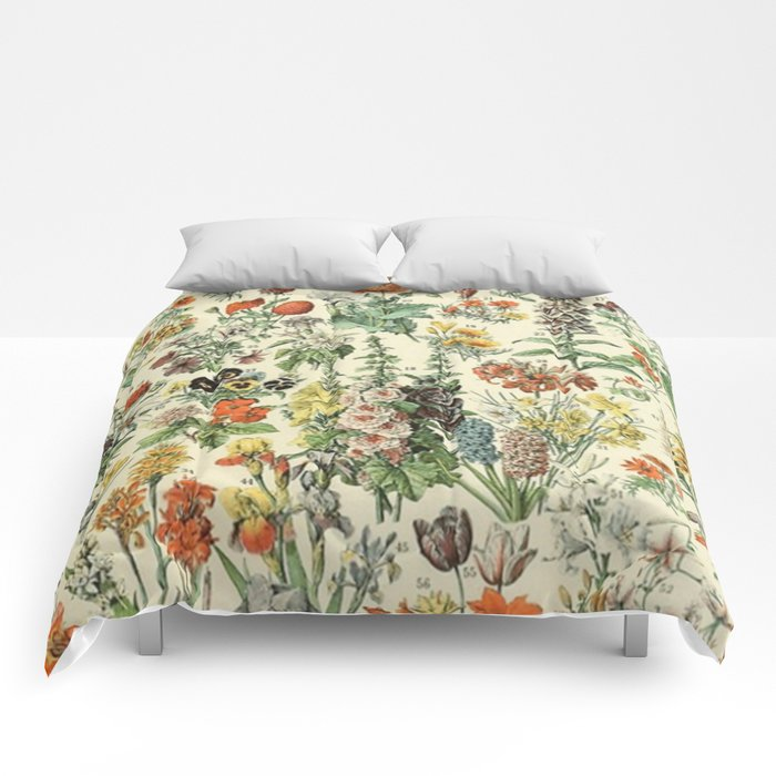 Adolphe Millot Vintage Fleurs Flower 1909 Comforters