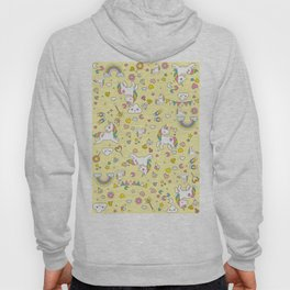 Unicorn Yellow Pattern Hoody