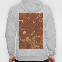 Jungle Cat Party in Rust Hoody