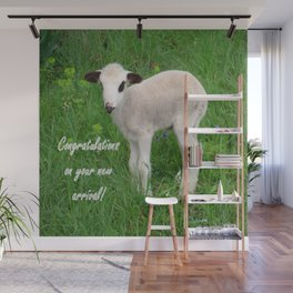 Congratulations On Your New Arrival Wall Mural
