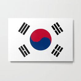 South Korean Flag Metal Print
