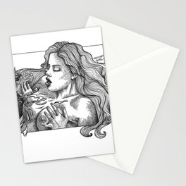 mature/pearlnecklace/blowjob/ejaculation/cock/boobs/nudeart/erotic art/porn/pornart/ Stationery Cards