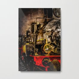 Old Timer Steam Train Metal Print