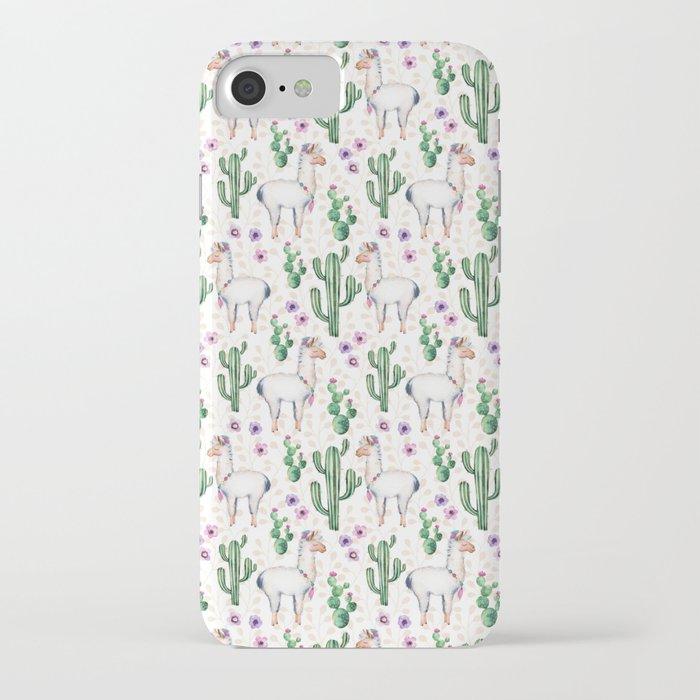 llama llamarama + cactus iphone case