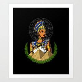 Egyptian Queen Nefertiti Egypt Goddess Art Print