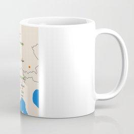 France map design Coffee Mug