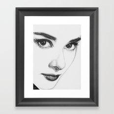 Audrey Hepburn (minimal) Framed Art Print