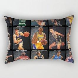 Basketball Legends Rectangular Pillow