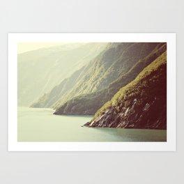 Alaskan hills fading Art Print