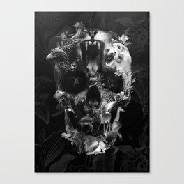Kingdom Skull B&W Canvas Print