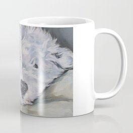 OES Old English Sheepdog dog art portrait from an original painting by L.A.Shepard Coffee Mug