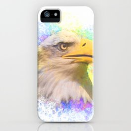 Bald Eagle Modern Art iPhone Case