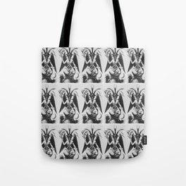 Baphomet pattern Tote Bag