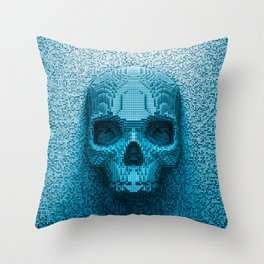 Pixel skull Throw Pillow