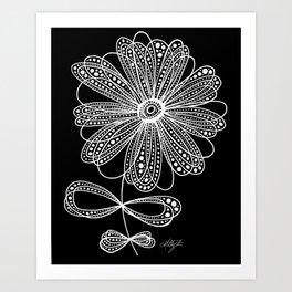 White Flower 4 Art Print