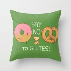 Glutes Intolerant Throw Pillow