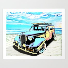 Plymouth Woody Early in the Morning by the Sea Art Print