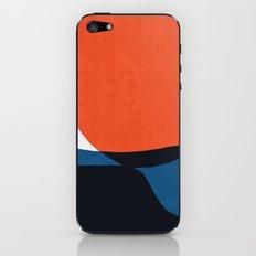 Blue and red modern art V iPhone Skin