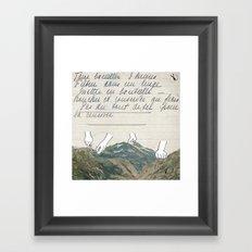 Recette Framed Art Print