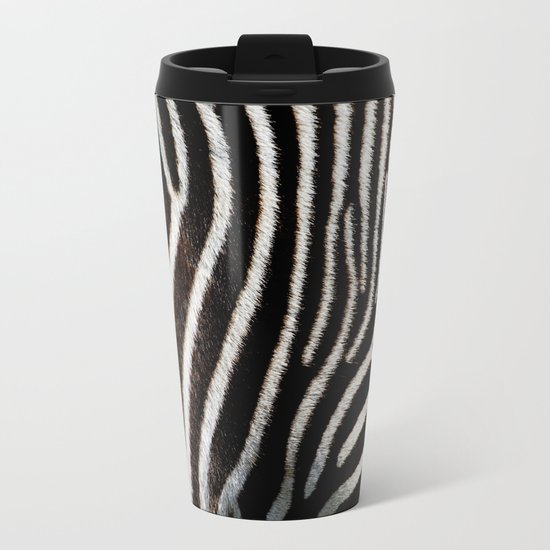 zebra Metal Travel Mug