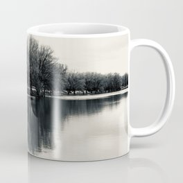 Guitar Shaped Reflection, Black and White Coffee Mug