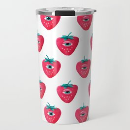 Cry Berry Pattern Travel Mug
