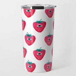 Cry Berry Pattern Travel Mug