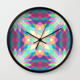 Lotus Light Waves Wall Clock