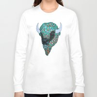 bison Long Sleeve T-shirts featuring Bison by ejvozzola
