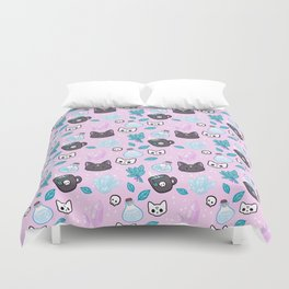 Herb Witch // Pink Duvet Cover