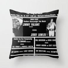 #4-B Memphis Wrestling Window Card Throw Pillow