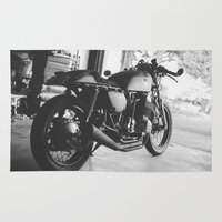 cafe racer Area & Throw Rugs featuring Cafe Racer by olegz