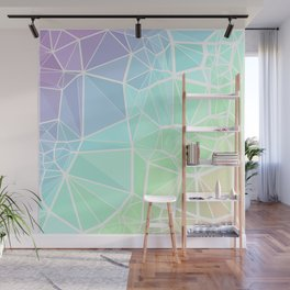 Rainbow Triangles Wall Mural