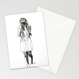 Photography Girl Stationery Cards